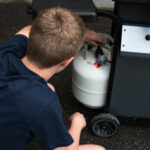 Checking propane cylinder