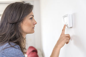 Checking thermostat settings