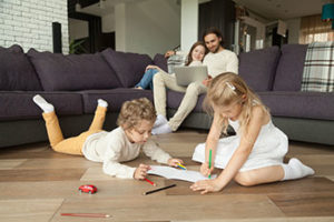 Children playing indoors