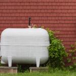 Outdoor heating oil tank