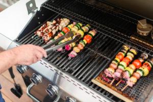 propane grill veggies