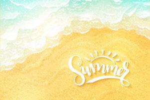 Summer beach tide